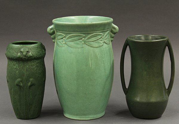 Arts and Crafts pottery vases