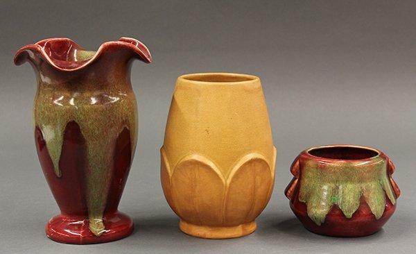 Signed Weller art pottery vases