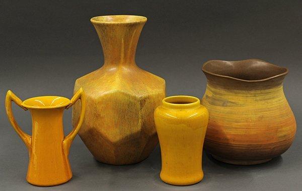Mid century art pottery group