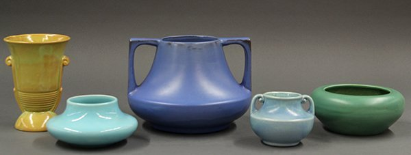 California art pottery vases and bowl