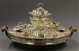English silver plate warming tray