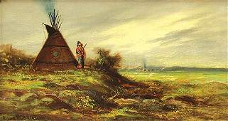 Painting, ADM Cooper, Indian Encampment