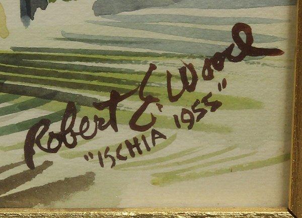 """Watercolor, Robert Earle Wood, """"Ischia,'' 1955 - 3"""