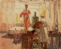 Monoprint, William Clapp, In My Studio, 1913