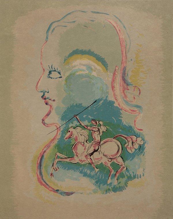 Print, Salvador Dali, Dreams of a Horseman