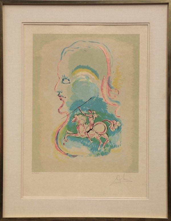 Print, Salvador Dali, Dreams of a Horseman - 2