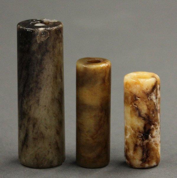 Three Chinese Jade/Stone Lu