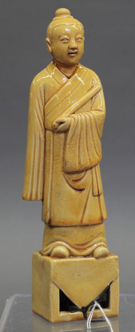 Chinese Glazed Ceramic Figure