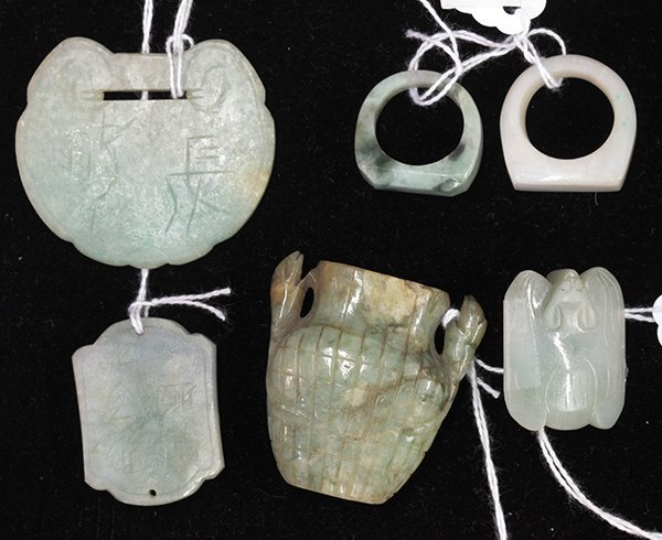 Chinese Jade Plaques and Rings