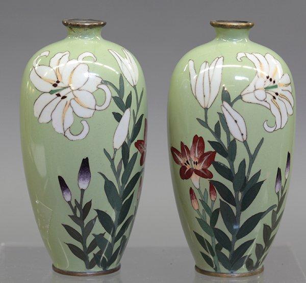 Japanese Small Cloisonne Vases