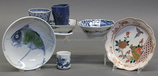 Japanese and Chinese Porcelain Dishes, Cups