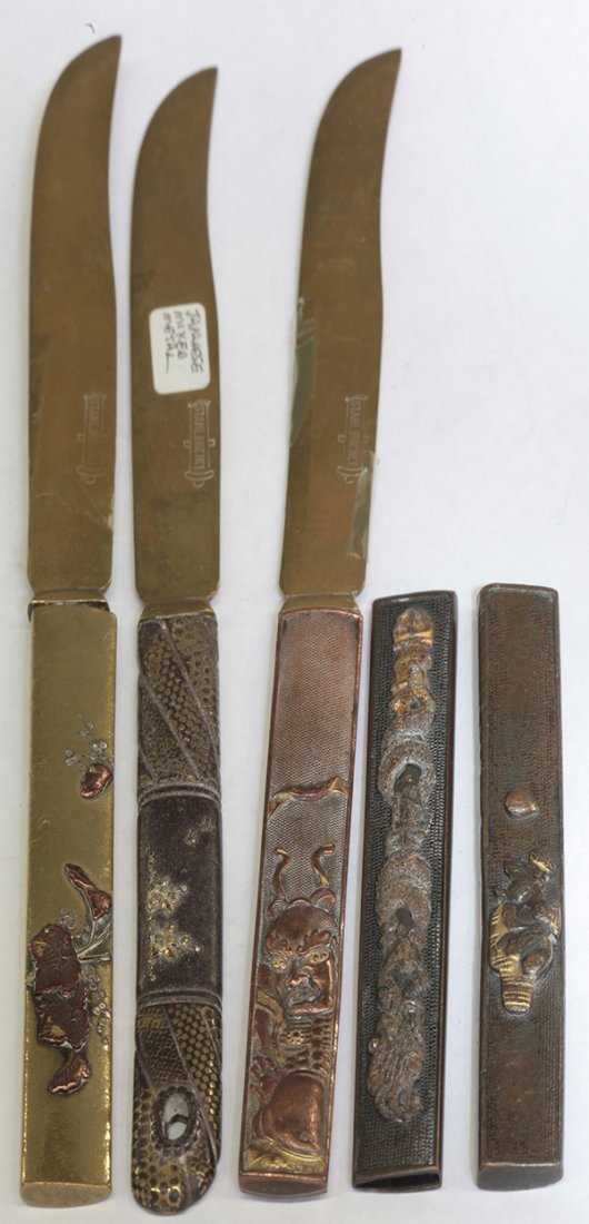 Group of Knives with Japanese Handles