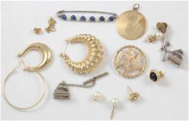 Collection of gemstone gold silver jewelry