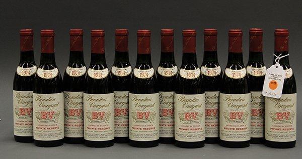 (lot of 12) 1974 Beaulieu Vineyard BV Georges de Latour