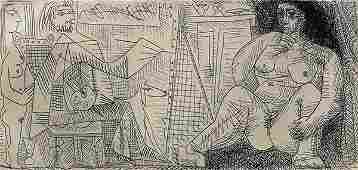 Print, Pablo Picasso, Le Peintre et son Modele