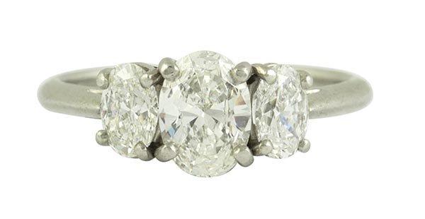 Tiffany & Co. diamond, platinum three stone ring