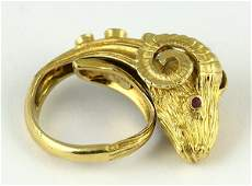 Attributed to Lalaounis yellow gold diamond sapphire