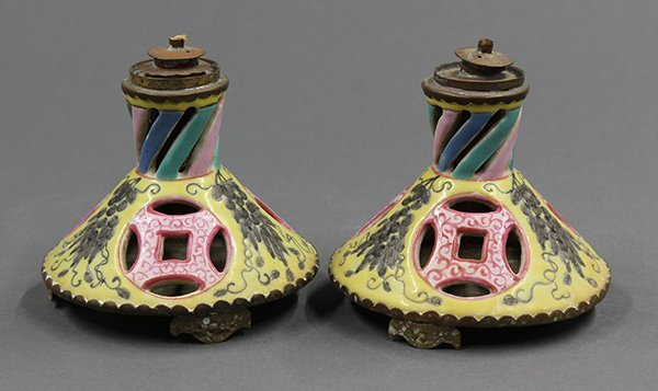 Chinese Porcelain Oil Lamps