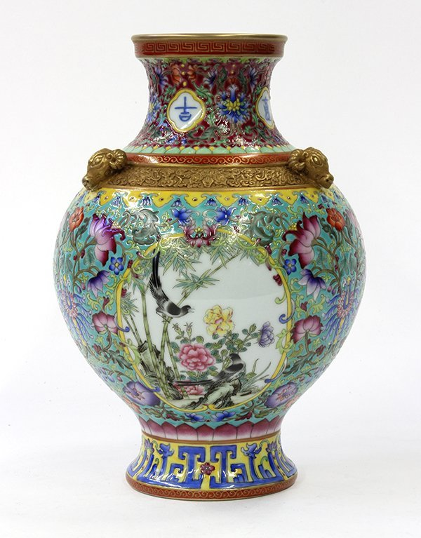 Chinese Polychromed Porcelain Vase