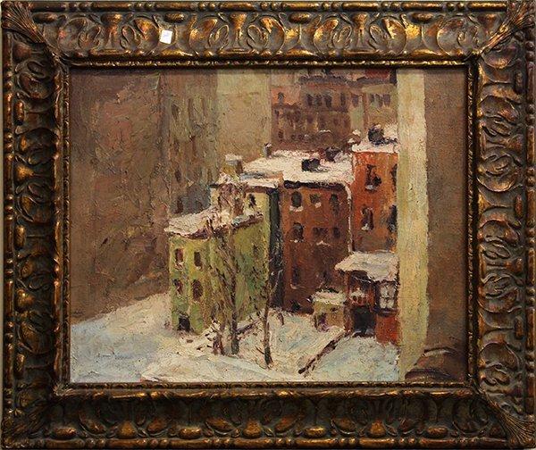 Painting, City Snow Scene