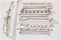 Anklets bracelets white gold sterling silver