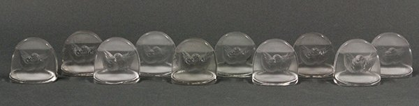 "R. Lalique ""Pinsons""  place card holders"