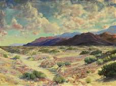 Painting James Arthur Merriam Desert Landscape
