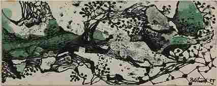 Drawing Dorr Hodgson Bothwell Abstract on Blotter