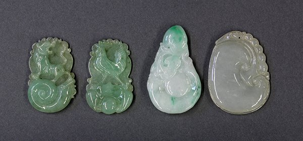 Four Chinese Jade Toggles