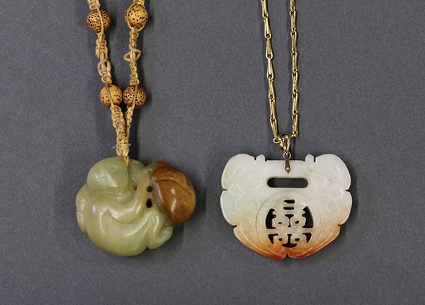 Two Chinese Jade/Stone Toggles