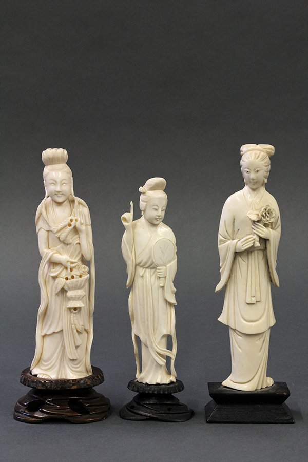Chinese Figural Ivory Carvings