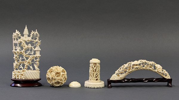 Group of Chinese Ivory Carvings