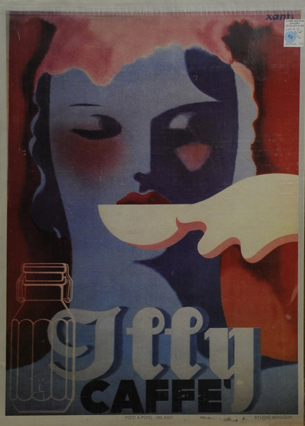 Vintage Illy Cafe Poster