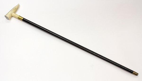 Scrimshaw walking stick