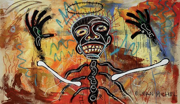 Painting, Attributed to Jean Michel Basquiat, Last