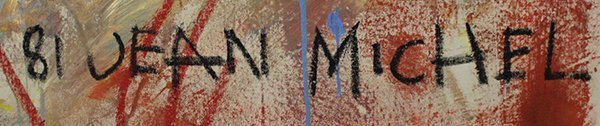 Painting, Attributed to Jean Michel Basquiat, Last - 2