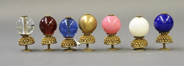 Group of Chinese Hat Finials, Dingzhu