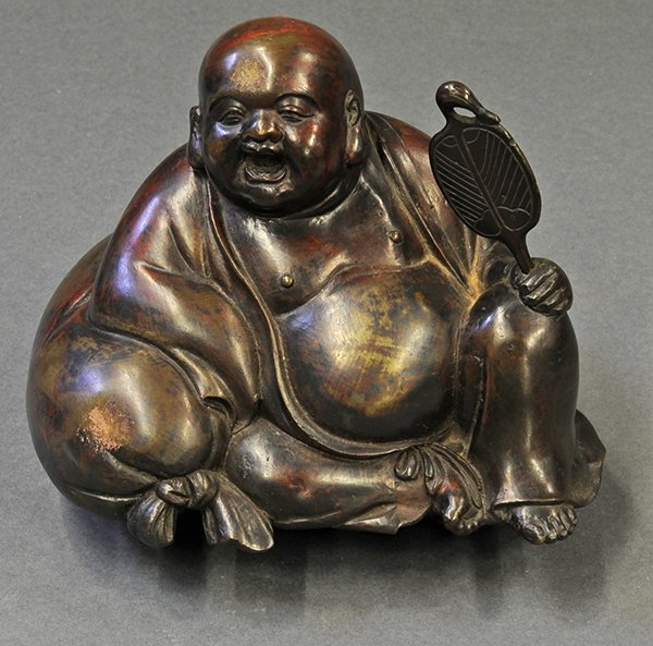 Chinese Metal Sculpture of Budai