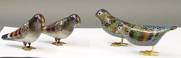 Chinese Cloisonne Birds