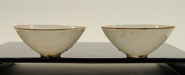 Chinese Molded White Ware Bowls