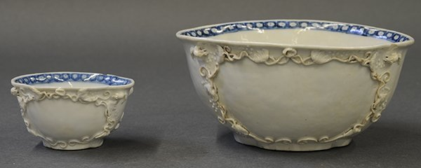 Chinese Porcelain Export Melon Form Bowls