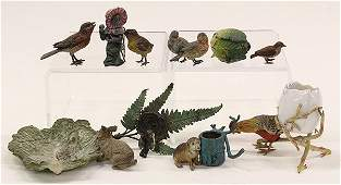 Collection of cast iron figurines