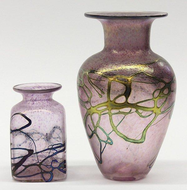 Robert Held iridescent art glass group