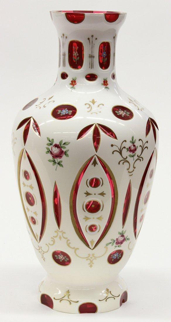 Bohemian cut glass vessel