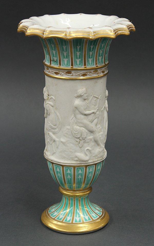 Charles X French porcelain vase