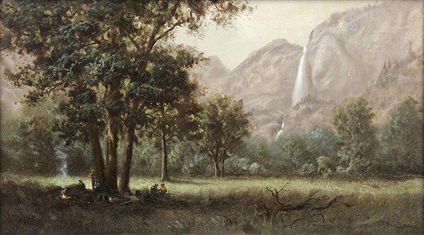 Painting, Benjamin Willard Sears, Camping Near Bridal