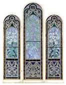 Monumental American Victorian leaded glass windows