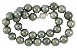 Black South Sea cultured pearl white gold diamond clasp