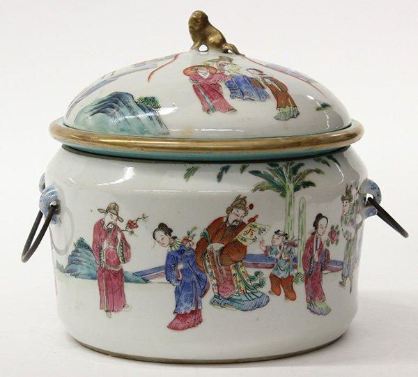Chinese Porcelain Warming Dish