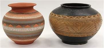 (lot of 2) Navajo pottery jar